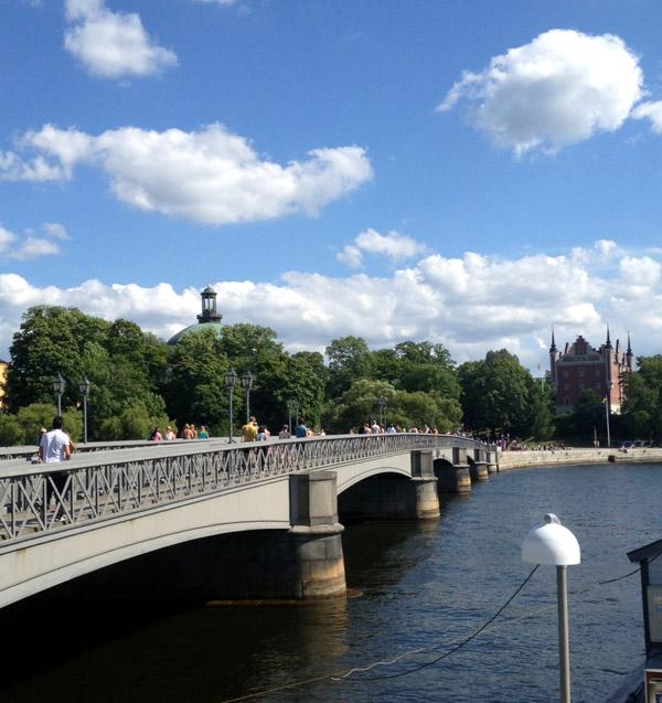 Bron över till Skeppsholmen