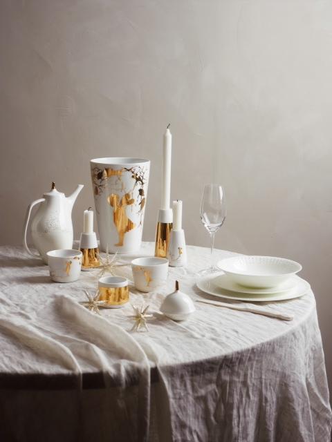 Alv Gull candle holders vase christmas